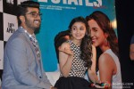 Arjun Kapoor and Alia Bhatt during the trailer launch of movie '2 States' Pic 2