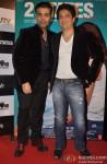 Karan Johar and Sajid Nadiadwala during the trailer launch of movie '2 States'