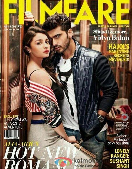 Alia Bhatt and Arjun Kapoor Look On The Cover Of Filmfare