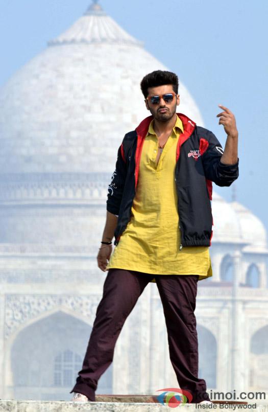 Arjun Kapoor on the sets of Movie 'Tevar'
