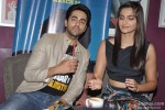Ayushmann Khurrana and Sonam Kapoor promote 'Bewakoofiyaan' at a Coffee shop Pic 3