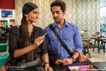 Sonam Kapoor and Ayushmann Khurrana in Bewakoofiyaan Movie Stills Pic 3