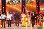 Andy, Amitabh Bachchan, Kirron Kher, Karan Johar and Bharti Singh promote 'Bhoothnath Returns' on the Sets of India's Got Talent