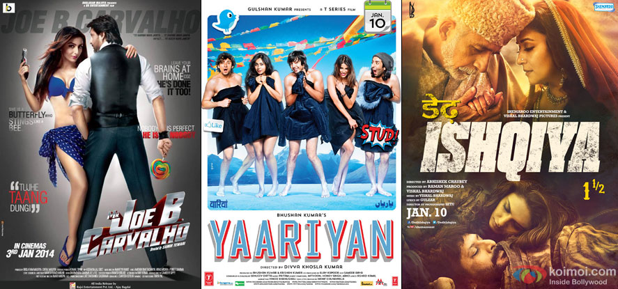 Mr Joe B. Carvalho, Yaariyan and Dedh Ishqiya Movie Poster