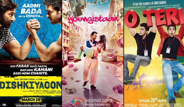 Dishkiyaoon', 'Youngistaan' and 'O Teri' Movie Poster
