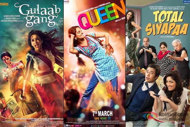 Gulaab Gang, Queen and Total Siyapaa Movie Poster