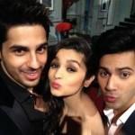 Pouty Selfie: Sidharth Malhotra, Alia Bhatt and Varun Dhawan