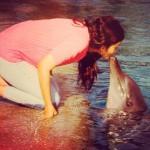 Alia Bhatt kisses a Dolphin