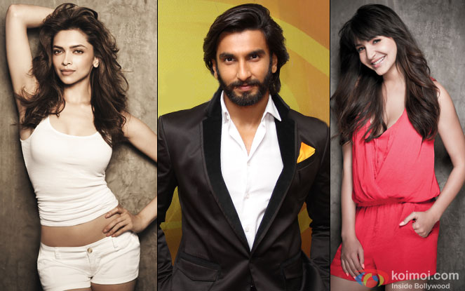 Deepika Padukone, Ranveer Singh and Anushka Sharma