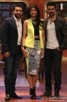 Raj Kundra, Shilpa Shetty and Harman Baweja promote 'Dishkiyaoon' on the sets of 'Comedy Nights With Kapil'