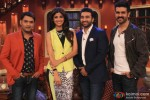 Shilpa Shetty, Raj Kundra and Harman Baweja promote 'Dishkiyaoon' on the sets of 'Comedy Nights With Kapil'