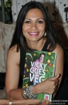 Maria Goretti during the launch of Chef Vicky Ratnani's book 'Vicky Goes Veg'