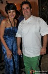 Mandira Bedi during the launch of Chef Vicky Ratnani's book 'Vicky Goes Veg'