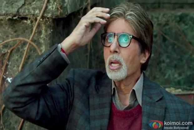 Amitabh Bachchan in a still from movie 'Bhoothnath Returns'
