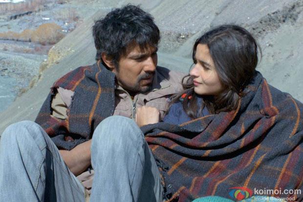 Randeep Hooda and Alia Bhatt in a still from movie 'Highway'