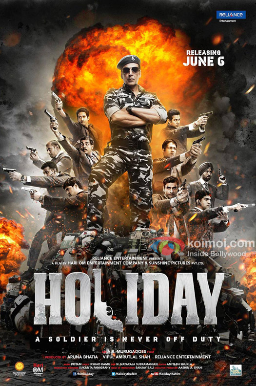 'Holiday - A Soldier Is Never Off Duty' Movie Poster