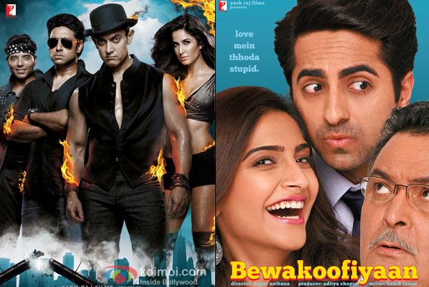 Dhoom 3 and Bewakoofiyaan movie poster