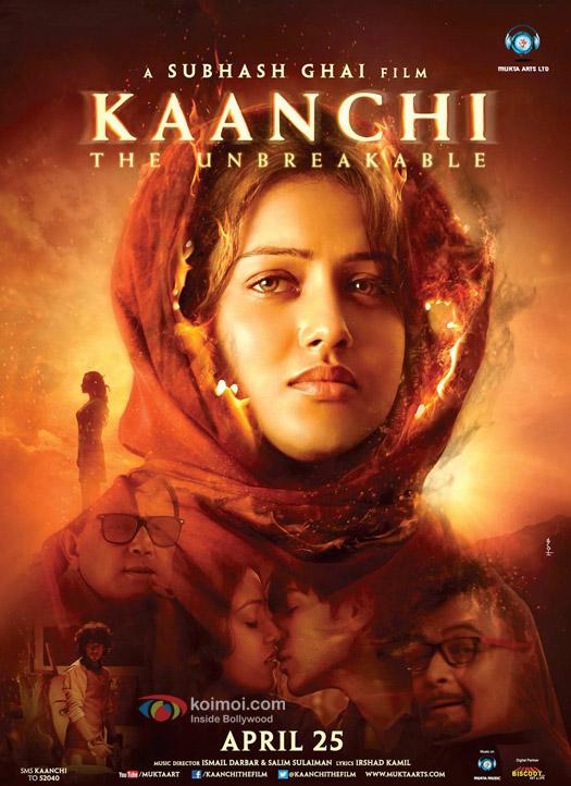 Indrani Chakraborty (Mishti), Kartik Aryan (Kartik Tiwari) and Rishi Kapoor starrer 'Kaanchi' movie first look poster
