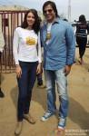 Kalki Koechlin and Vivek Oberoi at P&G Shiksha school