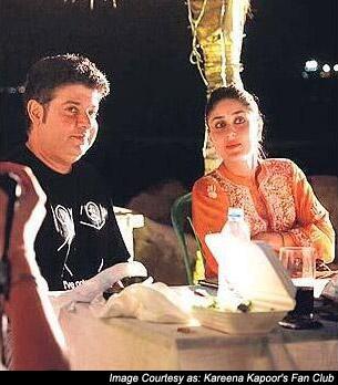 Sajid Khan and Kareena Kapoor on the sets of 'Humshakals'