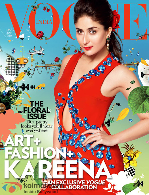 Kareena Kapoor Khan On Vogue Cover March 2014 Issue