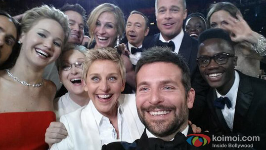 on the sets of Oscars