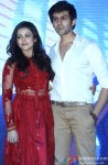 Mishti and Kartik Aaryan during the music launch of 'Kaanchi'