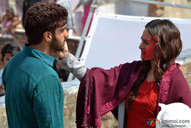 Arjun Kapoor and Sonakshi Sinha On The Sets Of 'Tevar'