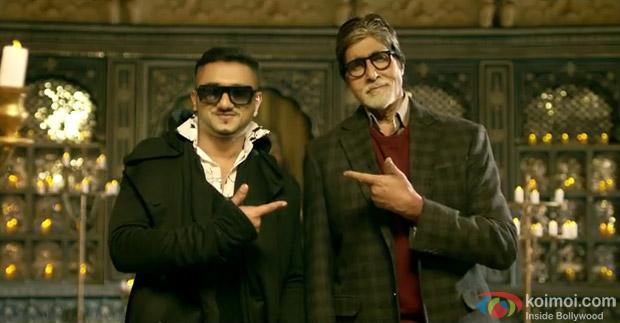 Honey Singh and Amitabh Bachchan in a still Movie 'Bhoothnath Returns'