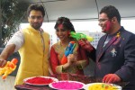 Jackky Bhagnani, Neha Sharma and Kayoze Irani celebrate Holi to promote 'Youngistaan' Pic 3