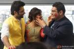 Jackky Bhagnani, Neha Sharma and Kayoze Irani celebrate Holi to promote 'Youngistaan' Pic 1