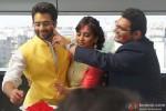 Jackky Bhagnani, Neha Sharma and Kayoze Irani celebrate Holi to promote 'Youngistaan' Pic 2
