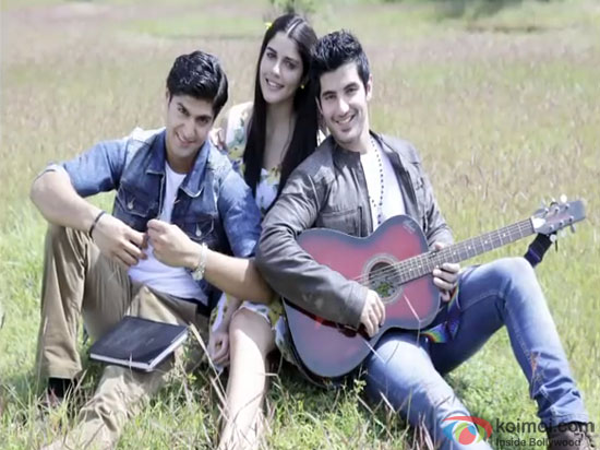 Tanuj Virwani, Isabelle Liete and Aditya Seal in a still from movie 'Purani Jeans'