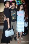 Lisa Haydon, Rajkummar Rao and Kangana Ranaut Posed For Cameras During The 'Queen' Film's Screening