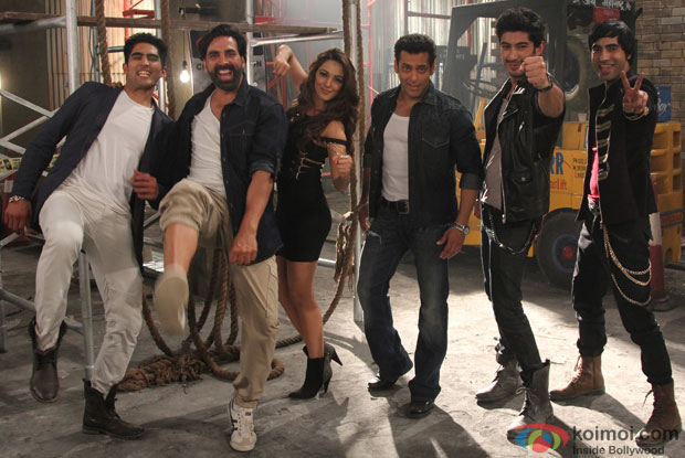 Akshay Kumar and Salman Khan shooting for the their hot number in the movie 'Fugly'