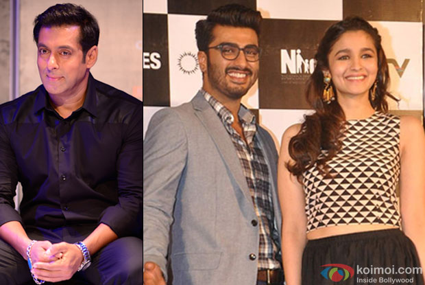 Salman Khan, Arjun Kapoor and Alia Bhatt