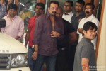 Sanjay Dutt snapped outside his bungalow while leaving for Yerwada Jail Pic 3