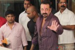 Sanjay Dutt snapped outside his bungalow while leaving for Yerwada Jail Pic 4