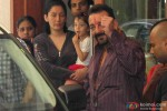 Sanjay Dutt snapped with Manyata Dutt outside his bungalow while leaving for Yerwada Jail Pic 1