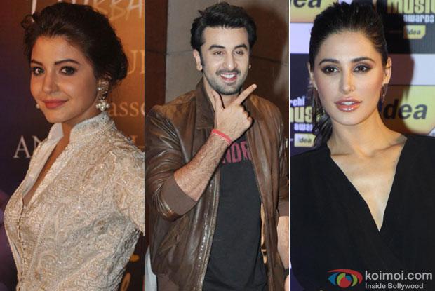 Anushka Sharma, Ranbir Kapoor and Nargis Fakhri