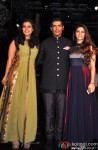 Kajol, Manish Malhotra and Tanisha Mukherjee at Manish Malhotra's grand fashion show
