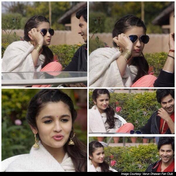 Alia Bhatt and Varun Dhawan On The Sets Of  Humpty Sharma Ki Dulhania