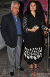 Ramesh Sippy and Kiran Juneja During The Premiere of Movie 'Gulaab Gang'