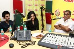 Kartik Aaryan, Mishti and Subhash Ghai during the promotion of film 'Kaanchi' at Radio Mirchi