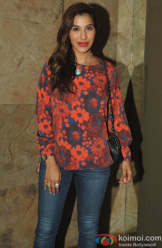 Sophie Choudhary poses at Queen's special screening