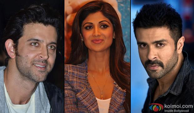 Hrithik Roshan, Shilpa Shetty and Harman Baweja