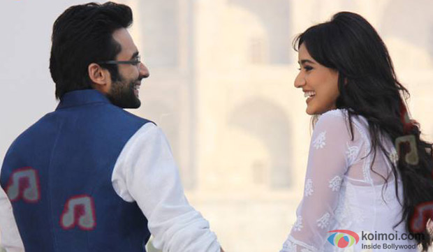 Jackky Bhagnani and Neha Sharma in a still from movie 'Youngistaan'