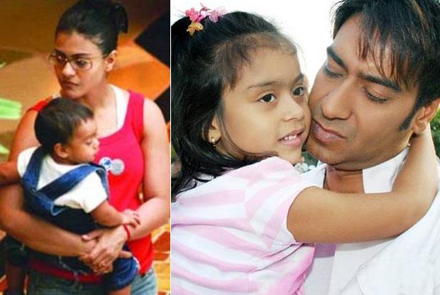 Ajay Devgn and Kajol with kids