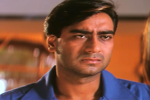 Ajay Devgn in a still from movie 'Zakhm'