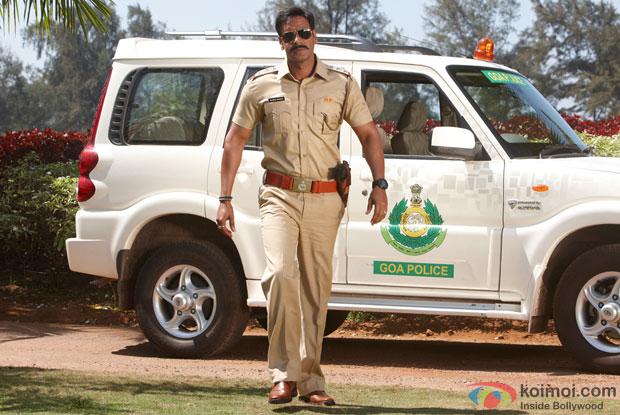 Ajay Devgn in a still from movie 'Singham'